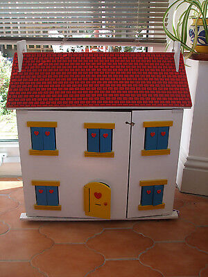 Wooden Dolls House, plus Furniture and Dolls