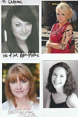 4 Actresses Dedicated Signed Photo