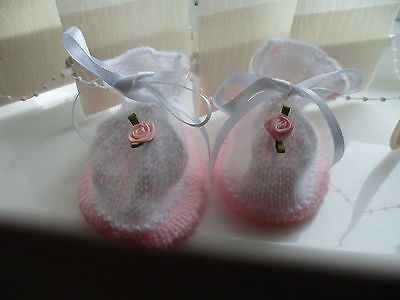 hand made baby girl bootees
