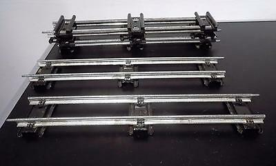Vintage Hornby Tinplate O Gauge Rail Track – Straight Sections x 6.