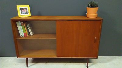 Herbert Gibb Teak Glazed Bookcase, Display Cabinet, Midcentury Sideboard, Retro.
