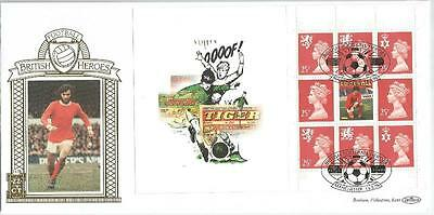 George Best Stamp set by Benhams with fact sheet