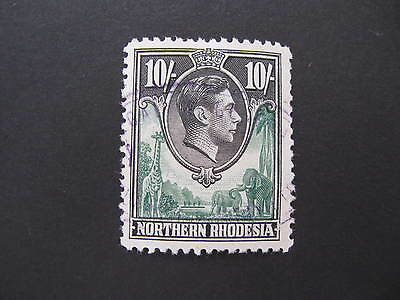 Northern Rhodesia KG6 1938-52  10/- SG 44 good/fine used c £35