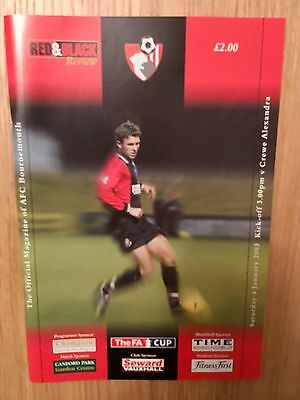 2002-03 Bournemouth v Crewe A FA Cup