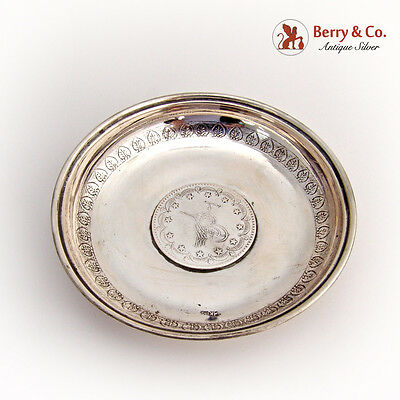 Middle Eastern Coin Bowl Dish 800 Silver 1900