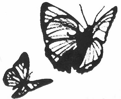 2 Tim Holtz cling clear stamps 'butterflys' NEW #111