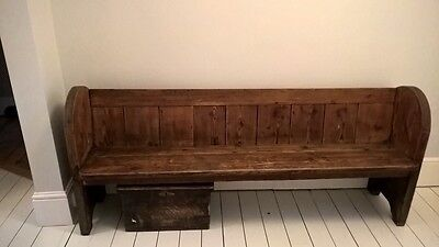 Large Chapel Pew- Beautiful Wood- Perfect For Shabby Chic