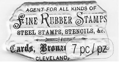 Tim Holtz cling clear stamp 'fine rubber stamps' advert NEW #177