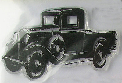 Tim Holtz cling clear stamp 'Vintage Truck' NEW #17