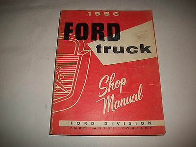 1956 Ford Truck Shop Manual All Trucks Clean Reprint Cmystor4More