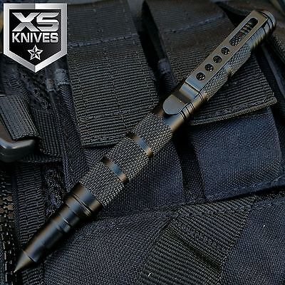 JTEC Aluminum Tactical Pen Glass Breaker Black Military Self Defense Outdoor 6""