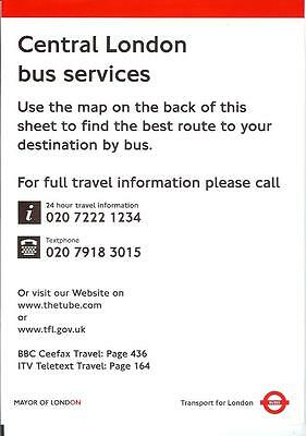 Central London Bus services Buses map a 4 side A4 geographical with no date TfL