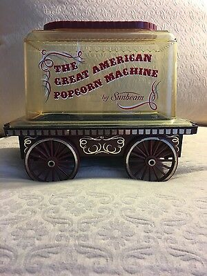Rare Antique Collectable Trolly Popcorn Machine by Sunbeam