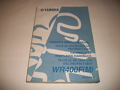 Official 2000 Yamaha Wr400F(M)  Motorcycle Shop Service Manual Clean More Listed