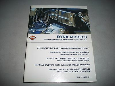 2004 Harley-Davidson Dyna Models International Owners Manual Clean May Be Unused