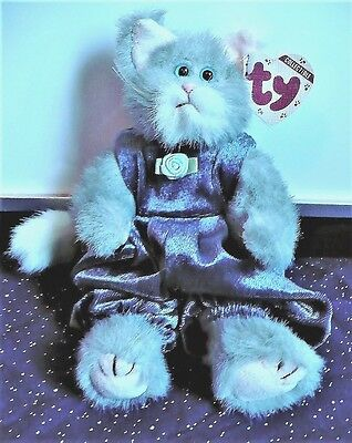 """TY Beanie Baby Attic Treasures """" Whiskers """"  Kitty Cat with tag"""