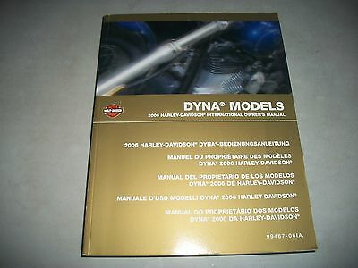 2006 Harley-Davidson Dyna Models International Owners Manual Clean May Be Unused