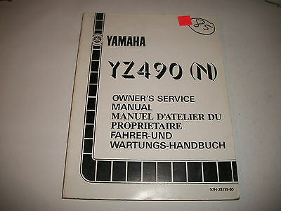 Official1985 Yamaha Yz490(N) Motorcycle Shop Service Manual Clean More Listed