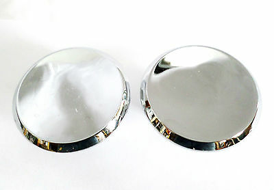 Vintage Pair Of Amerock Die Cast Chrome Drawer Knobs Pulls Handles Hardware New!