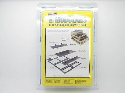 N Flat & Peaked Roofs w/ Base Modular Kit - Walthers Cornerstone #933-3280