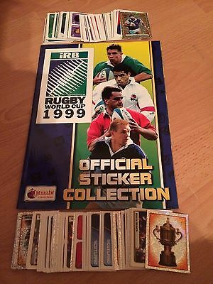 Complete Loose Set 252 Rugby World Cup 1999 Merlin Stickers Excellent Condition