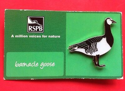 RSPB-A Million Voices For Nature BARNACLE GOOSE  Pin Badge.