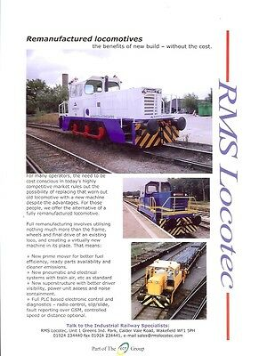 RMS Locotec Wakefield Ealing Community Transport A4 Industrial Locomotive