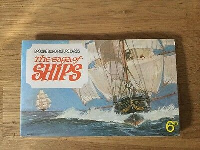 Brooke Bond Picture Cards, The Saga of Ships, complete 1970