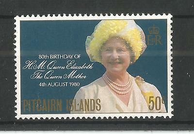 Pitcairn Islands 1980 Queens Mothers 80Th Birthday Sg,206 Um/m Nh Lot 1476A