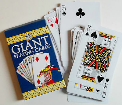 Giant playing cards. House of Marbles. NEW