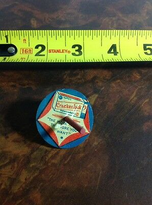 Vintage Cracker Jack Prize Tin Litho Spin Top Toy Early