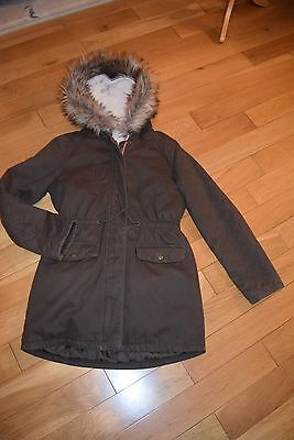 M & S girls parker coat brown 13-14
