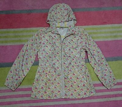 Pretty Girls Next Floral Light Weight Shower Proof Coat Jacket Age 11