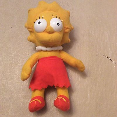Lisa Simpson The Simpsons Soft Toy - Rare