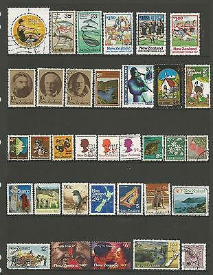 34 New Zealand Stamps used