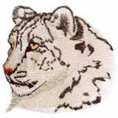 Snow Leopard Head  (b) Embroidery Patch