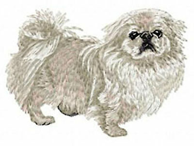 Pekingese (Light) Standing embroidery patch
