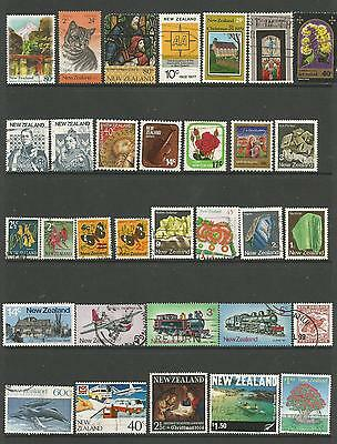 32 New Zealand Stamps used