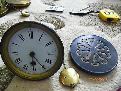 Mantle clock mechanism with bevelled glass comes with pendulum GWO