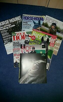 Horse and Hound, YOUR HORSE, Horse and Rider and Rider  7 Magazines