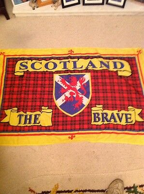 Scotland The Brave Flag Approx 4ft By 2.5ft