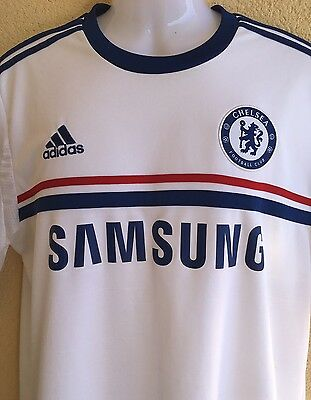 Adidas Chelsea FC Away Shirt 2012. Large . White Adults Short Sleeves Top.