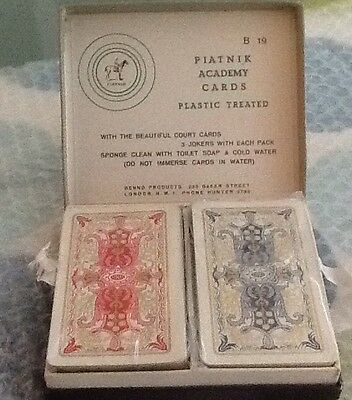 Platnik Academy vintage playing cards twin pack vgc