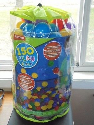 """PlayHut Ball Pit Balls 2.5"""" Colored Assorted Plastic Childrens Toys with Bag"""