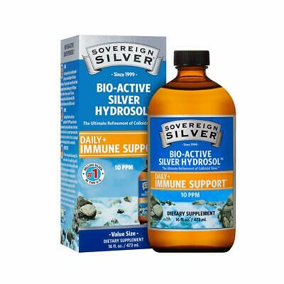 Sovereign Silver Bio-Active Silver Hydrosol for Immune Support - 10 ppm - 16oz