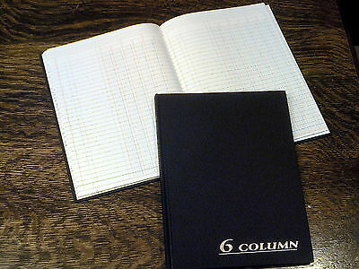 "Adams Account Book, 6 Columns, 7x9.25"", Black, 80 Pages, # ARB8006M, Ledger"
