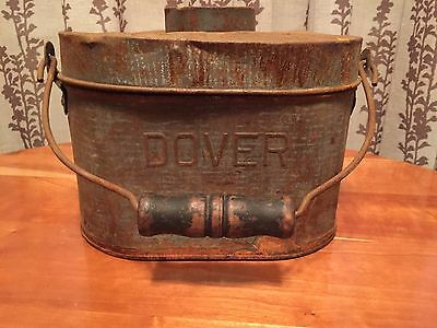 Beautifully Rusty Vintage / Antique Dover Miners Metal Lunch Box