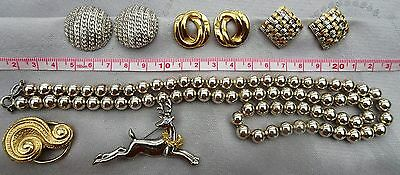 Lot vintage bijoux fantaisie de qualité (Monet, Napier.. ) excellent etat