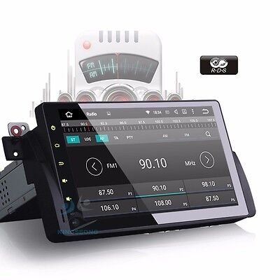 """9"""" Android 5.1 Head unit GPS Nav for BMW E46 3Ser 318 320 M3 MG ZT Rover 75 DAB+"""