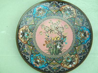 Antique Japanese Meji Period Cloisonne Plate